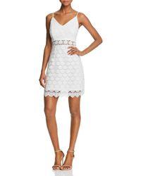 Aqua - Body-con Lace Dress - Lyst