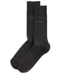 BOSS - Mercerized Dot Socks - Lyst