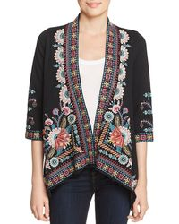 Johnny Was - Delphine Embroidered Knit Kimono - Lyst