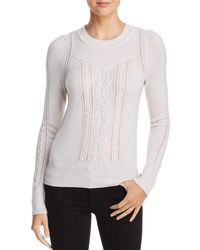 Aqua - Cashmere Mixed Knit Cashmere Sweater - Lyst