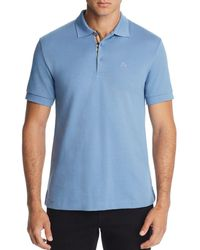 512b33b68 Lyst - Burberry Brit Slim Fit Polo Shirt in Blue for Men