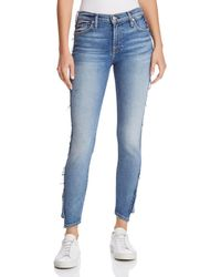 7 For All Mankind - Ankle Skinny Jeans In Luxe Vintage Muse - Lyst