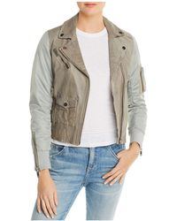 Doma Leather - Mixed Media Aviator Jacket - Lyst
