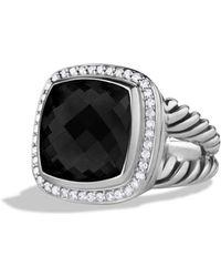 David Yurman - Albion Ring With Black Onyx & Diamonds - Lyst