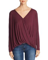 Vero Moda - Honie Draped Wrap-front Top - Lyst