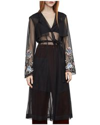BCBGMAXAZRIA - Embroidered Tulle Trench Coat - Lyst