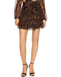 Bardot - Rah Rah Ruffled Floral Mini Skirt - Lyst