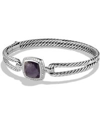 David Yurman - Albion Bracelet With Black Orchid And Diamonds - Lyst
