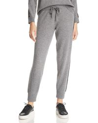 Minnie Rose - Lace-trimmed Cashmere Jogger Pants - Lyst