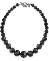 Carolee - Jet Crystal Beaded Necklace - Lyst