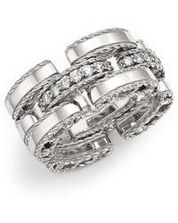 Roberto Coin - 18k White Gold Retro Diamond Ring - Lyst