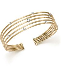 Marco Bicego - 18k White And Yellow Gold Luce Diamond Cuff Bracelet - Lyst