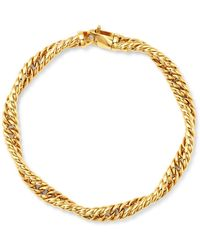 Bloomingdale's - Twisted Curb Chain Bracelet In 14k Yellow Gold - Lyst