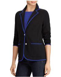Ralph Lauren | Lauren Contrast Trim Knit Blazer | Lyst