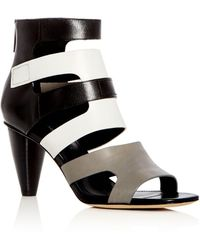 Donald J Pliner - Women's Paula Leather Color-block High Heel Sandals - Lyst