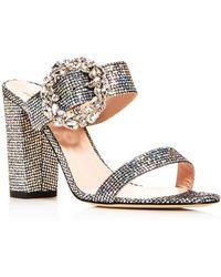 SJP by Sarah Jessica Parker - Women's Celia High Block-heel Slide Sandals - Lyst