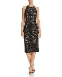 Aqua - Damask Lace Dress - Lyst