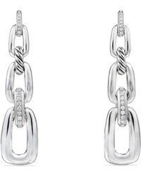David Yurman - Wellesley Link Chain Drop Earrings With Diamonds - Lyst
