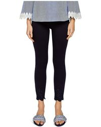 Ted Baker - Cottoned On Massiee Embroidered Skinny Jeans In Navy - Lyst