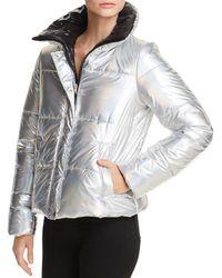 Aqua - Iridescent Puffer Jacket - Lyst