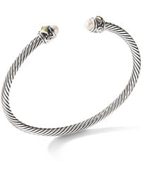 David Yurman - Renaissance Bracelet With Cultured Freshwater Pearls & 18k Yellow Gold - Lyst