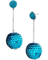 BaubleBar - Sequin Ball Drop Earrings - Lyst