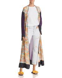 Elizabeth and James - Shawna Floral Silk Robe - Lyst