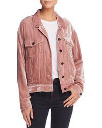 Pam & Gela - Oversized Velvet Trucker Jacket - Lyst