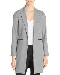 Kenneth Cole - Houndstooth Long Open-front Blazer - Lyst