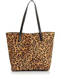 Aqua - Leopard Print Calf Hair Tote - Lyst