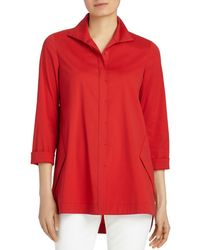 Lafayette 148 New York - Marla Button Down Blouse - Lyst