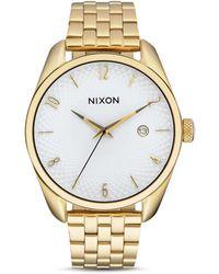 Nixon - Analog Bullet Goldtone Bracelet Watch - Lyst