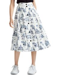 caff4fbd46 Maje Jilane Lace Midi Skirt in White - Lyst