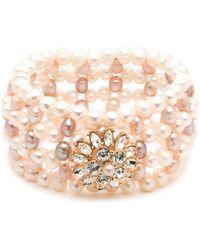 Carolee - Cultured Freshwater Pearl Stretch Bracelet - Lyst