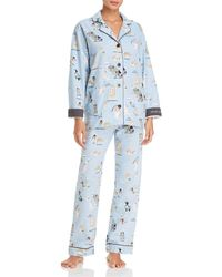 Pj Salvage - Kiss Me I'm Chewish Hanukkah Flannel Cotton Pyjama Set - Lyst