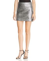 MILLY - Modern Metallic Mini Skirt - Lyst