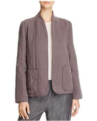 Eileen Fisher - Quilted Open-front Jacket - Lyst