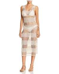 Pilyq - Joy Crocheted Lace Dress Swim Cover-up - Lyst