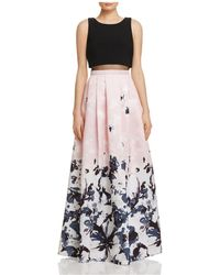Aqua - Printed Ball Gown - Lyst