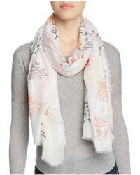 Altea - Embroidered Leaves Scarf - Lyst