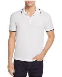 ATM - Tipped Pique Polo Shirt - Lyst