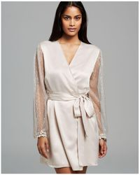 Flora Nikrooz - Showstopper Charmeuse Cover-up Robe - Lyst