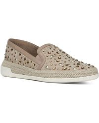 Donald J Pliner - Women's Pamela Embellished Leather Espadrille Flats - Lyst