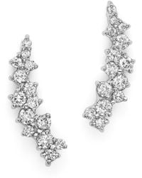 Bloomingdale's Small Diamond Scatter Ear Climbers In 14k White Gold