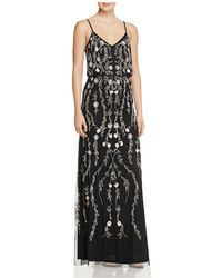 Adrianna Papell | Beaded Blouson Gown | Lyst