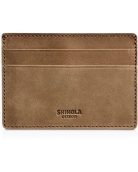 Shinola - Outrigger Nubuck Leather Card Case - Lyst