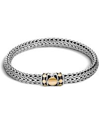 John Hardy - Sterling Silver And 18k Bonded Gold Dot Medium Chain Bracelet - Lyst