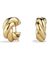 David Yurman - Sculpted Cable Small Earrings In 18k Gold - Lyst