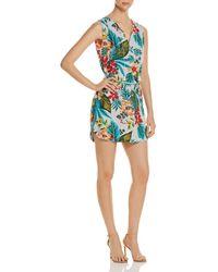 Beach Lunch Lounge - Tropical-print Sleeveless Shirt Dress - Lyst