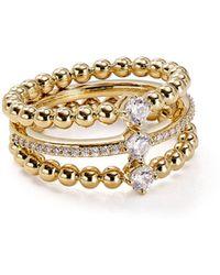 Nadri - Éclat Linked Ring - Lyst